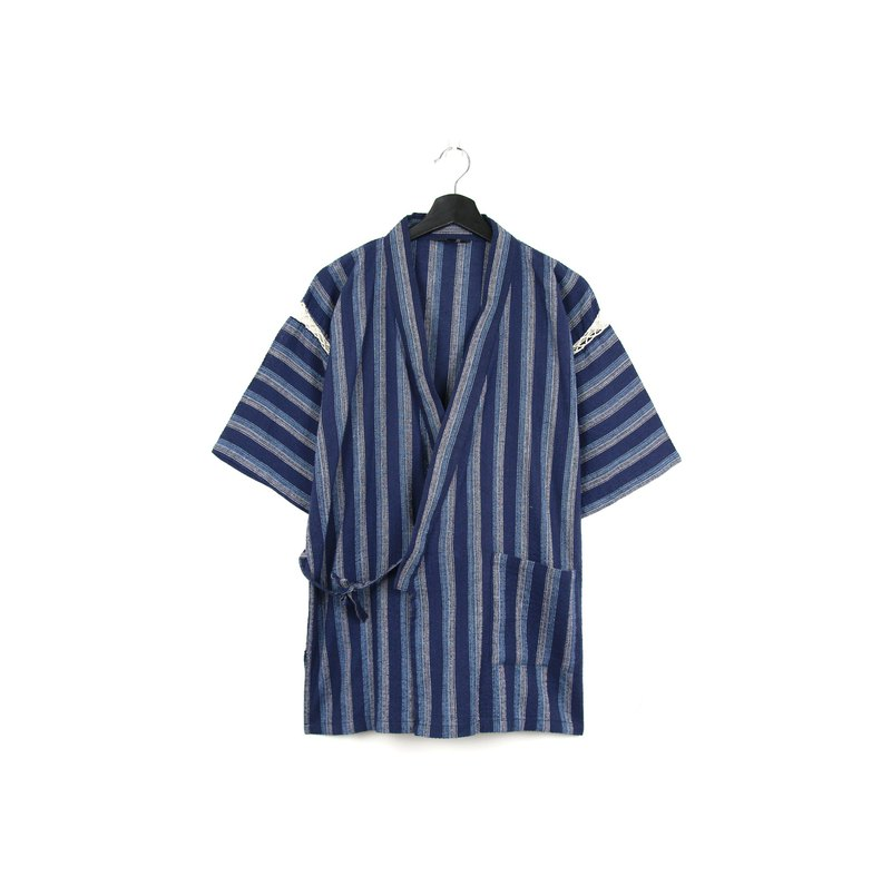 Back to Green-Japan Very Flat Ocean Blue Stripe / vintage