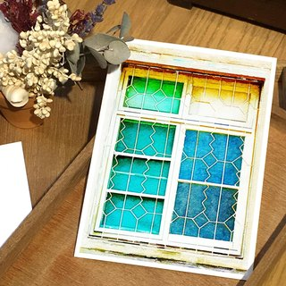 Old House Yan – Window Flower Postcard – 111 Tainan/Sawtooth Window Flower