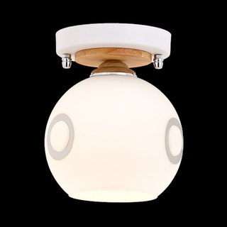Japanese style wind lamp shade half ceiling lamp