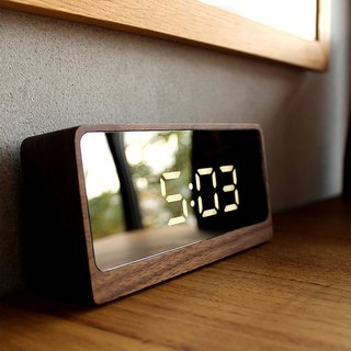 [Limited new products] LED wood mirror clock