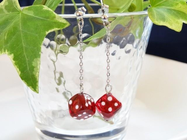 MA2 dice glass earrings 1