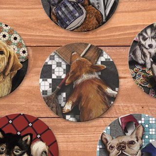 Lack of brick pet series absorbent ceramic three-dimensional coaster