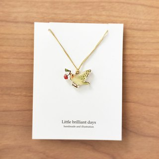 CHERRY BIRD NECKLACE