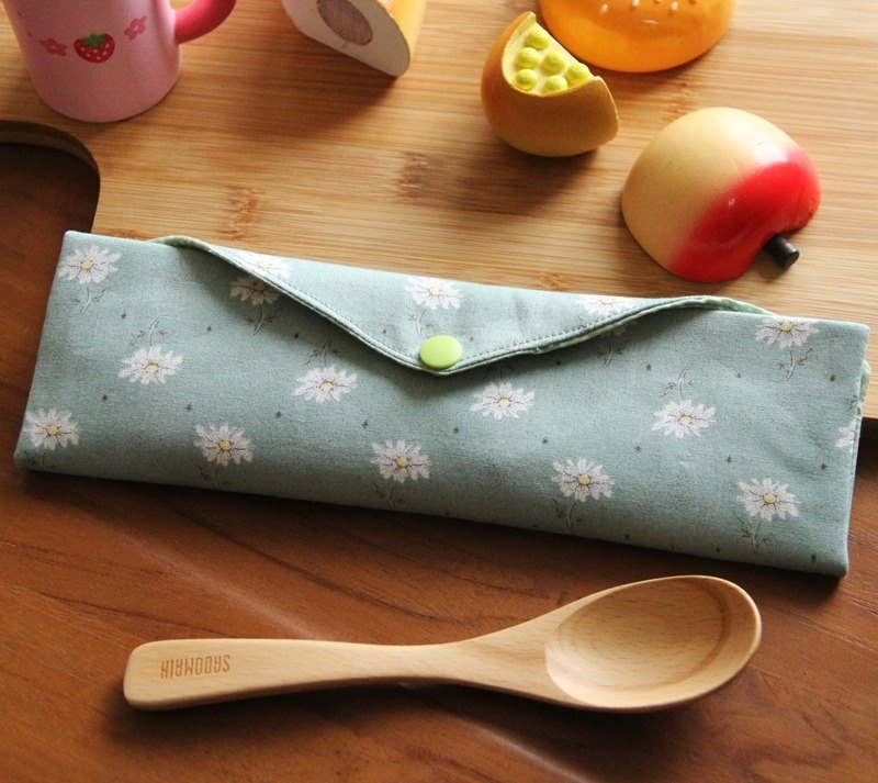 Green wind chopsticks chopsticks bag ~ small fresh green storage bag. Green chopsticks bag
