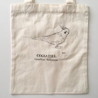 Pure hand-painted bird cotton shopping bag ‧ Xuanfeng