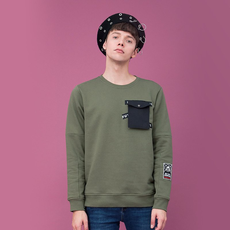 Mens Detachable Pocket Sweatshirt