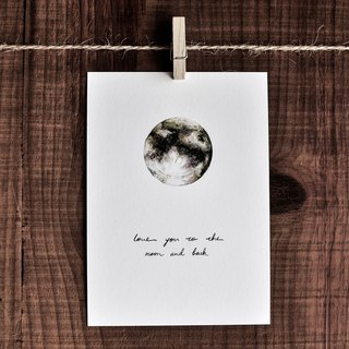 Love card – The Moon / Post card