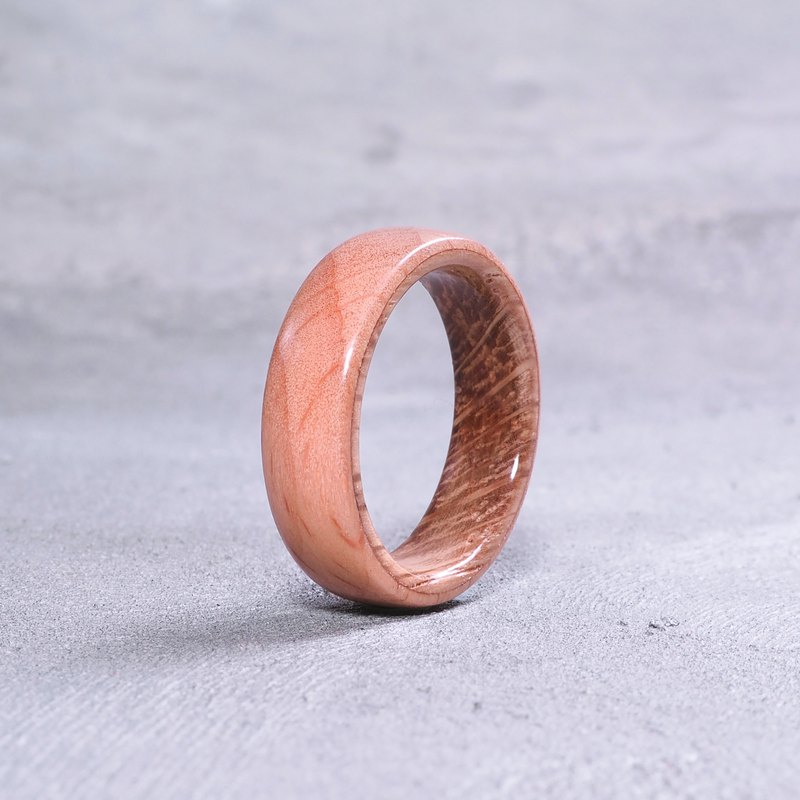 Classic wooden ring Beech x Oak