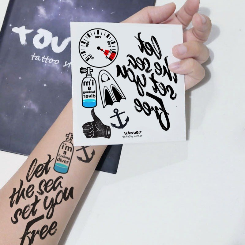 TU Tattoo Sticker - diver theme / Tattoo / waterproof Tattoo / original /