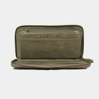 Influxx UN1 Everyday Leather Wallet – Dark Olive Green