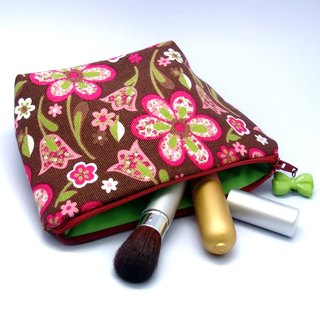 Large flat bottom zipper pouch /cosmetic bag (padded) (ZL-33)