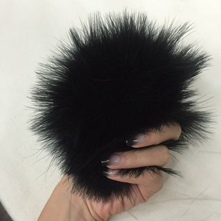 Natural turkey fluff ball pin