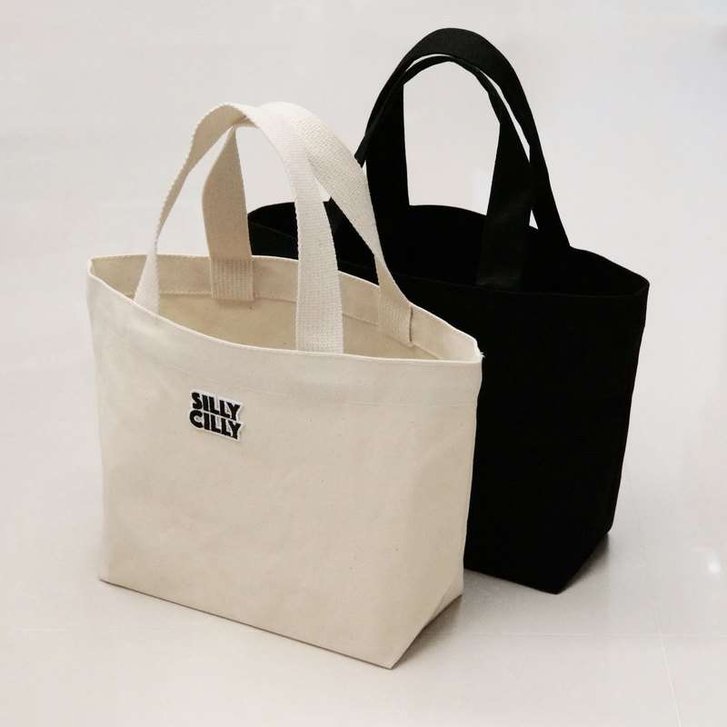 SillyCilly Sharp Hilly Blanken Silk Facial LOGO Canvas Bag Lightweight / Convenient for Environmental Protection