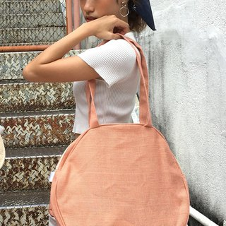 Peach pink tote bag