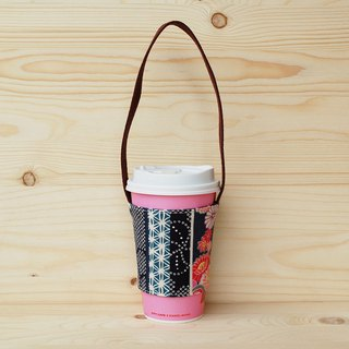Japanese pattern drink bag/cup set