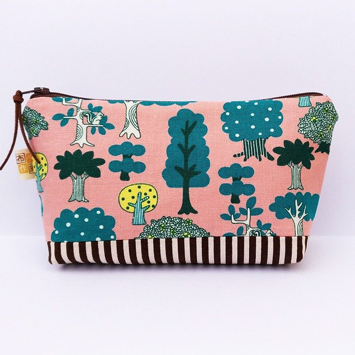 Small forest _ powder wide bottom large pencil case