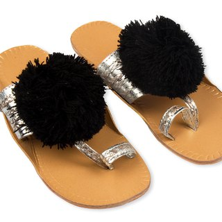 CHANDAMAMA Desi Silver w/Black Slipper