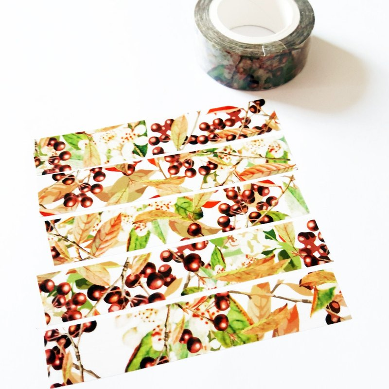 Masking Tape Berry Fabric