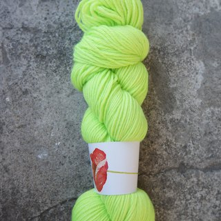 Hand-dyed lines. Green apple. 100% blue face sheep (Sport)