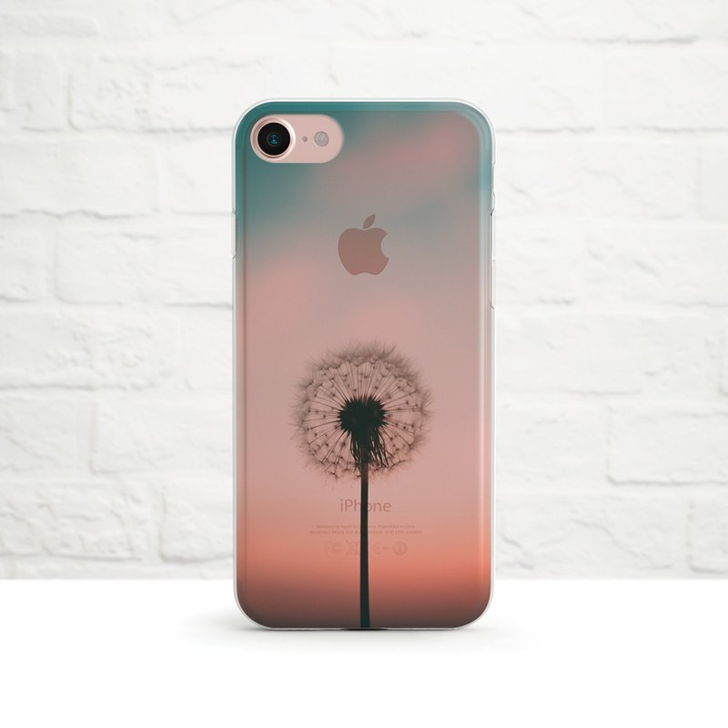 The Dandelion Sunset, Clear Soft Case, iPhone Xs Max, Xr to iPhone SE/5, Samsung