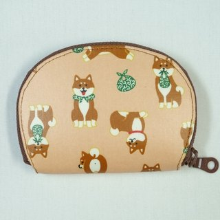 Play cloth hand-made. Japanese Shiba Inu (Fenju) tarpaulin - Purse short clip