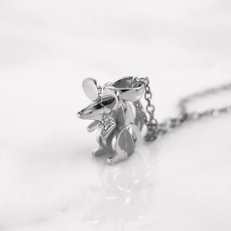 Da Mouse Pendant and Necklace (925 Sterling Silver) - by Da Things