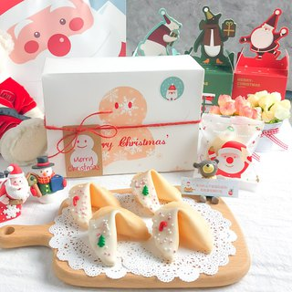 Christmas Exchange Gift Snowman Gift Box Lucky Fortune Cookie Christmas Beads White Chocolate Fortune Cookie
