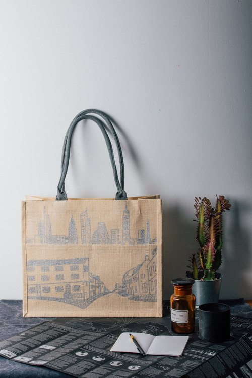 Between Cities KK Jute Bag