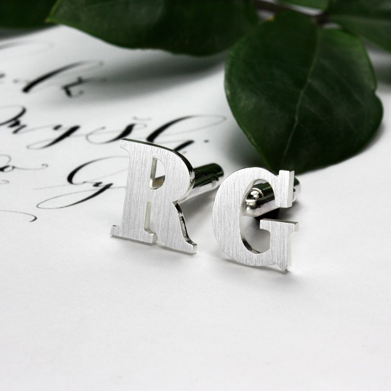 Initials Cufflinks - Personalized Cufflinks - Wedding Cufflinks for groom