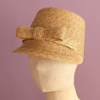 "Straw Ribbon Cap ""Linn"""