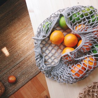Hand-woven material bag_Hemp linen grocery bag