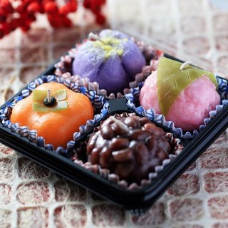 Japanese confection candle (4 pieces)