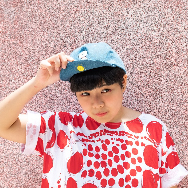 Double Sided Embroidery Denim Baseball Cap / Sunny Doll with Sun