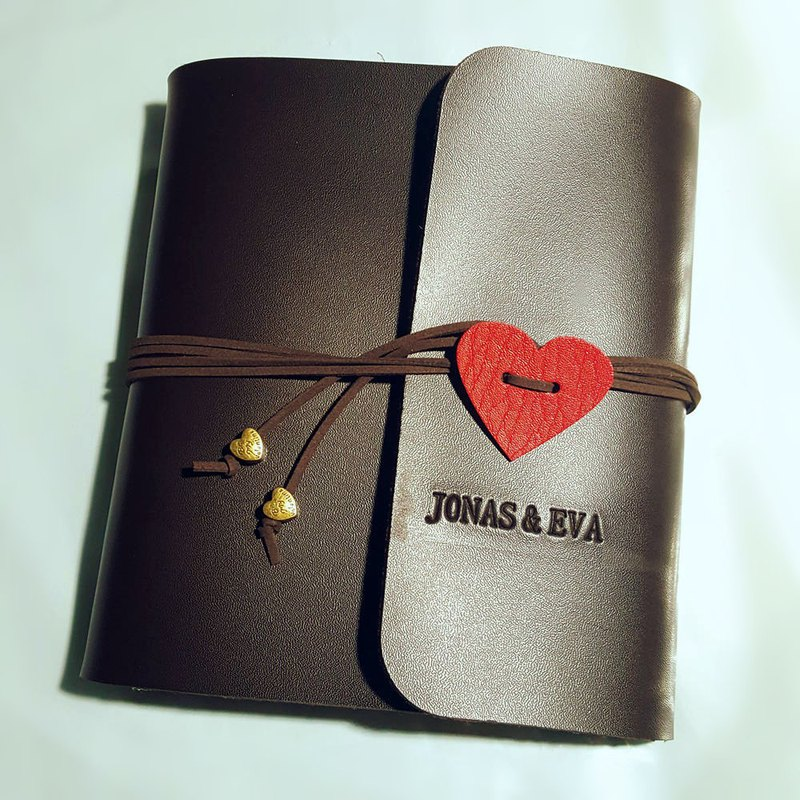 Valentine's Day gift can be customized lettering photo album phase Polaroid album leather account strap-shaped heart-shaped loose-leaf DIY album creative gifts birthday gifts customized souvenir book
