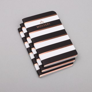 Black Gold Stripe Pocket Notebook