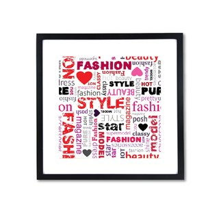 HomePlus Decorative Frame - Fashion Series Red 43x43cm Homedecor