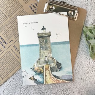 Kermorvan Lighthouse - Postcard