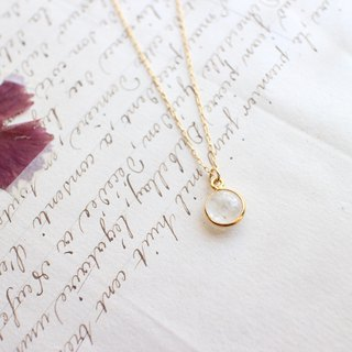 Moon river-Moon stone brass necklace