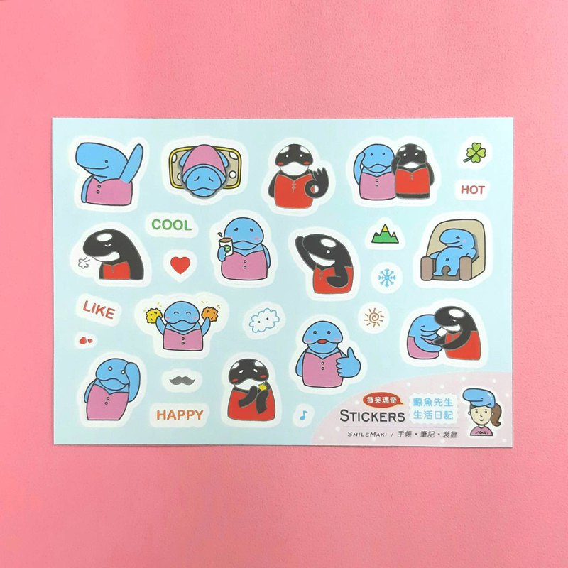 Mr. Whale - Life Diary Sticker