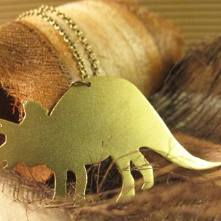 [Dinosaur friends - Triceratops small necklace]