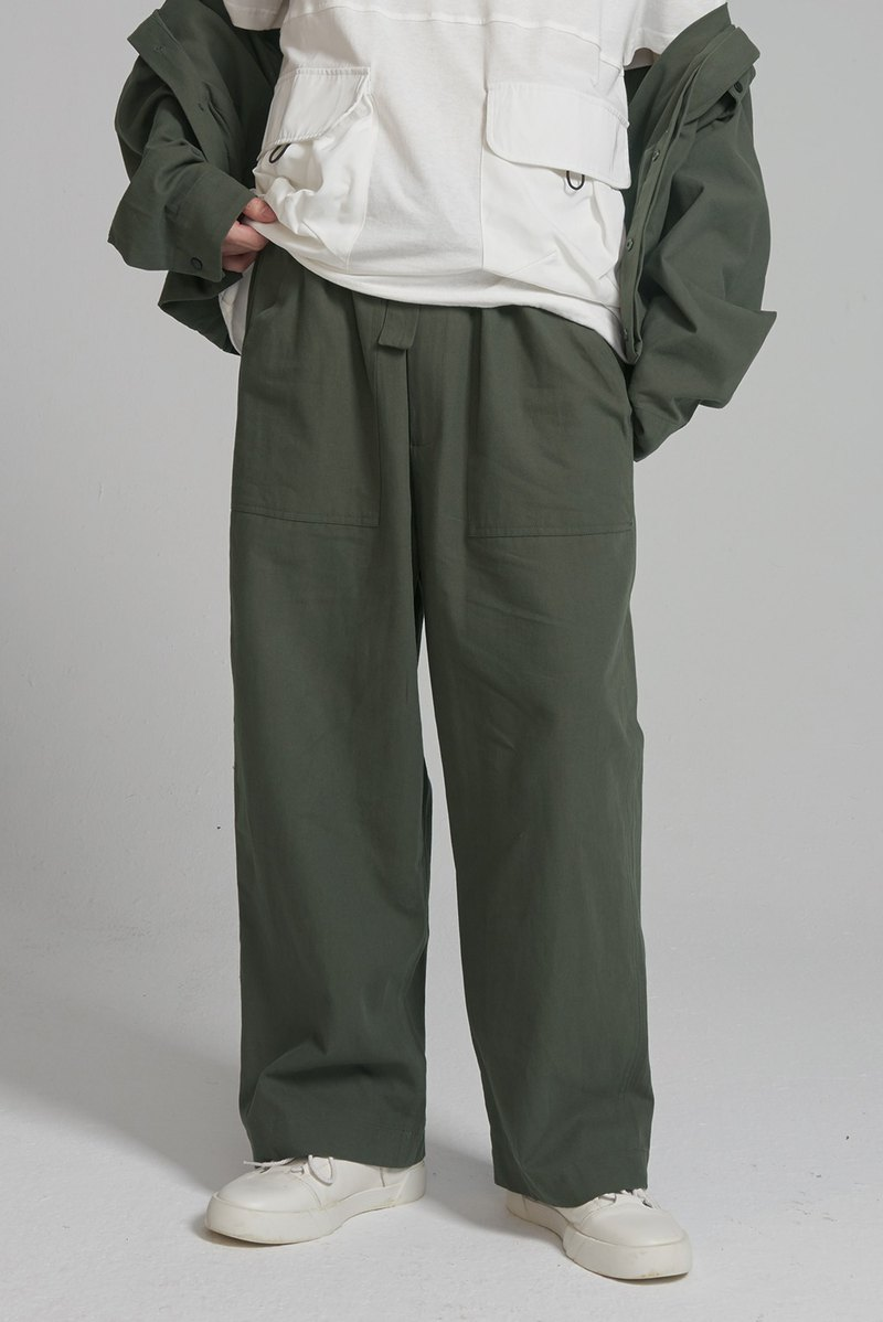 Broadband straight design wide pants #9238