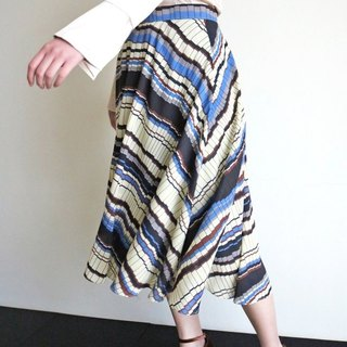 Irregular geometric print Skirt