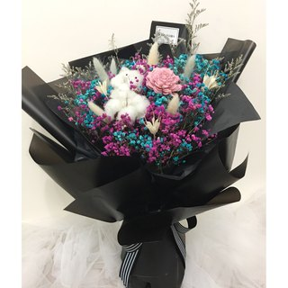 Personality two-color starry dry bouquet / wedding bouquet