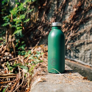 New 24Bottles - Clima Bottle Jungle Green (500ml) - Stainless Steel Insulated Water Bottle - 24 hours for ice protection and 12 hours for insulation