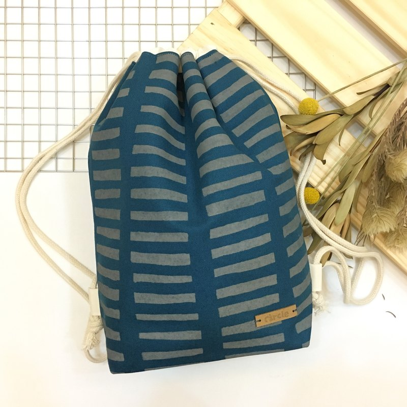 Hand-printed bunched backpack - Tatami