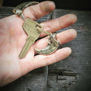 Claw brass key ring / pendant brass Claw keyring /pendant