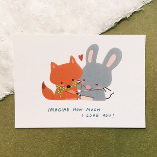 How Much I Love You - Squeaky Postcard