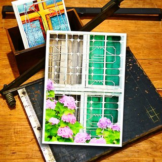 Old House Yan – Window Flower Postcard – 148 Pingtung/Fuji Mountain View