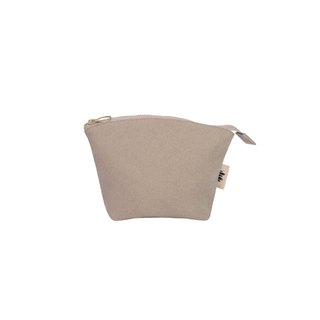 [Seashell Cosmetic Bag] - Sandy Color Canvas (Small)