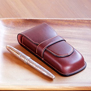 3 pens inserted fountain pen case color order